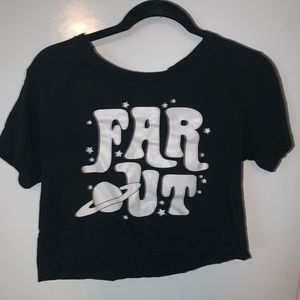 Black matter far out crop top